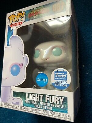 Funko Pop Vinyl Light Fury Glitter Limited Edition How To Train Your Dragon Uk