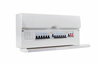 BG 13 Way Dual RCD Metal Consumer Unit & 10 MCBs Amendment 3 Compliant CFDP16613