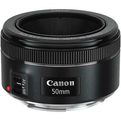 Genuine Canon EF 50mm F/1.8 STM Camera Lens New Boxed by Authorised UK Supplier