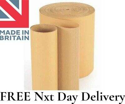75 Metre Length CORRUGATED CARDBOARD PAPER ROLL 750mm Wide COMMERCIAL GRADE