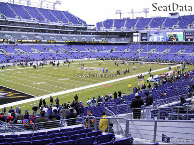 2 Baltimore Ravens Lower Level PSL Personal Seat License - Sec 106 Row 26