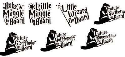 Baby Muggle/Wizard on Board/Sorting Hat Vinyl Decal Child on Board Baby on Board