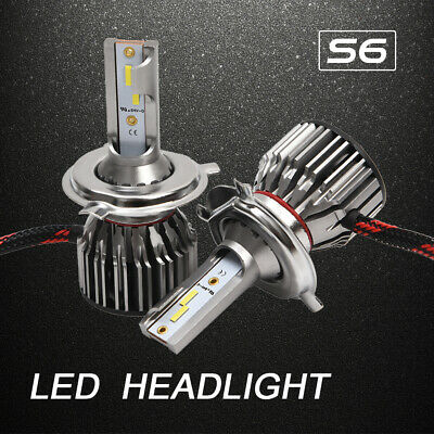 2X S6 Voiture 100W 12500LM CSP H4 HB2 9003 LED Kit Ampoules Phare Phare 6000K BR