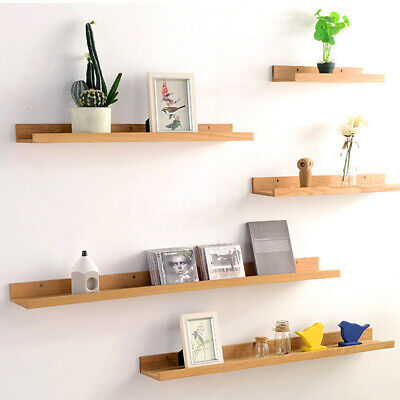 Retro Wooden Wall Floating Shelf Storage Shelving Storage Display Unit