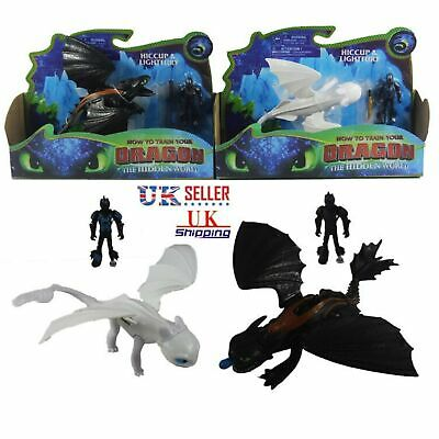 How To Train Your Dragon 3 Light fury Hiccup Night Fury Toothless Figures Toys