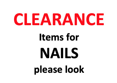 Clearance Items for Nails - Polish / Varnish - All Items Are New But Reduced