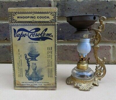 Vintage VAPO-CRESOLENE Remedy Inhaler Oil Lamp Whooping Cough e.t.c. with Box