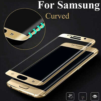 Tempered Glass Screen Protector Film Full 9H Coverage Samsung Galaxy S7 Guard