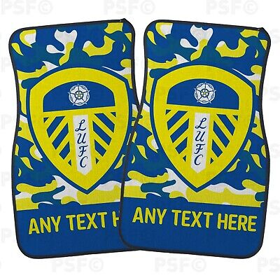 Official LUFC Personalised Car Mats Set of 2 Fronts Camouflage Leeds United FC