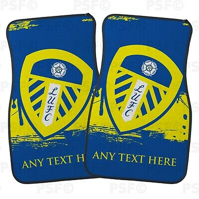 Official LUFC Personalised Car Mats Set of 2 Fronts Paint Splat Leeds United FC