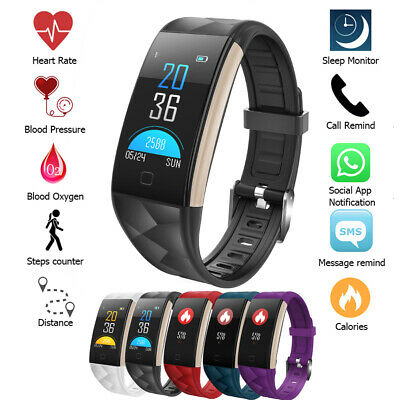 Smart Band Watch Bracelet Wristband Fitness Tracker Blood Pressure HeartRate T20