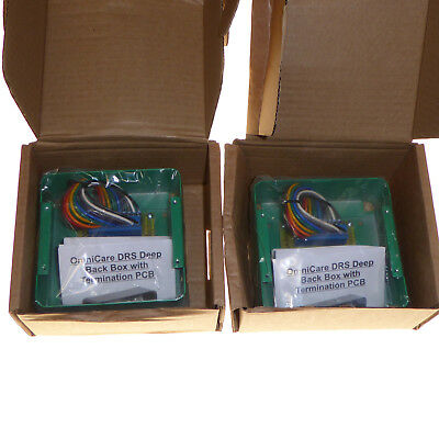 2 x Onmicare DRS deep back box with termination PCB disabled refuge green box