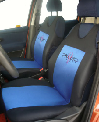 Vauxhall Astra Vectra Insignia Blue 2 Front Car Seat Covers Protectors Tribal