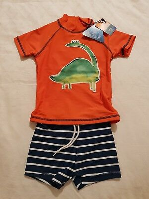 Next Boys Dino UVP Sunsafe 2 Piece Set Swimsuit Sunsuit 1.5-2 years 18-24 months