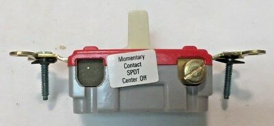 Slater 727-IV Momentary Contact Center Off  20A 120-277V SPDT Quiet Switch Ivory