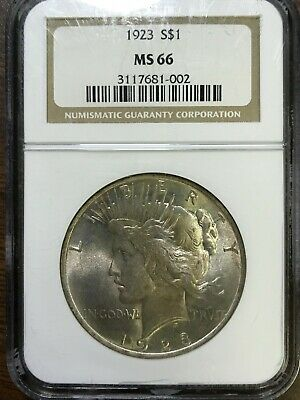 1923 Peace Silver Dollar - NGC MS66 - GEM BRILLIANT UNCIRCULATED - #681-002