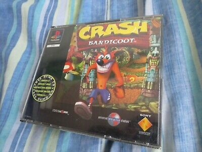 "Crash Bandicoot Big Box Version Playstation Uk Empty Box / Inlay Only ""no Game"""