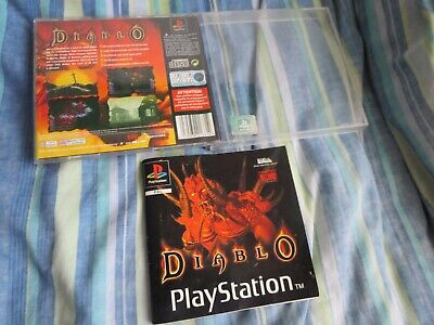 "Diablo Playstation Empty Box / Back Inlay & Manual Only ""no Game"" Pal Uk Ps1"