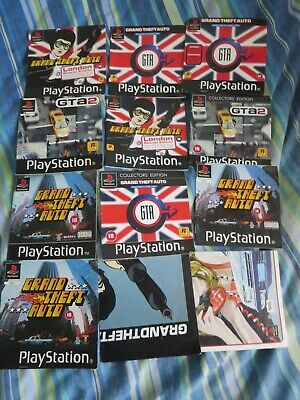 Grand Theft Auto Instruction Manuals & Some Front Inlays Playstation Ps1