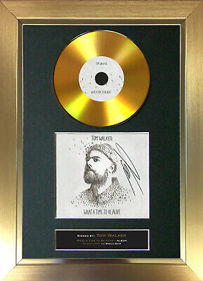 GOLD DISC TOM WALKER What A Time To... Signed Autograph Mounted Print A4 183