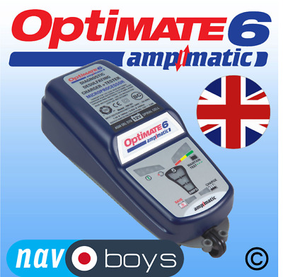 OptiMate 6 Ampmatic 12V 5A 9 step battery charger and Optimiser UK product