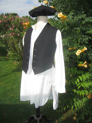 f852370c3941e Great Antique Vtg FRENCH PEASANT Sunday OUTFIT SHIRT VEST BERET BASQUE  フランスの農家
