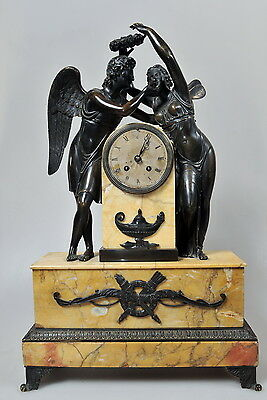Antique 19th century French Bronze Marble Clock