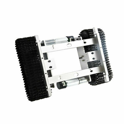 CN_ 12V effective Robot Car Tank Chassis Kit Alloy with Code Wheel
