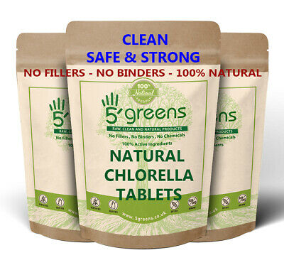 Chlorella 500mg Tablets - Cracked Cell Wall (Heavy Metal Detox)