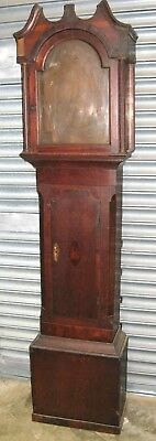 "Oak Grandfather Clock Case for 12"" x 16.5"" Dial - Circa 1800"