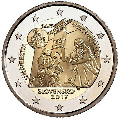 4 Pieces Slovaquie 2017 Université Istropolitana 2 Euro € Commemorative Neuves
