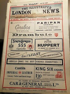 The Illustrated London News Mag. Refueling Battleships at Sea Car Ads etc 1956