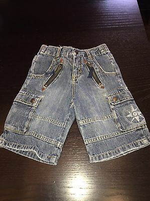 Baby Guess Boys Denim Shorts Size 12 Mos. **free shipping**