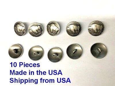 Buttons Buffalo Nickle Replica 10 Pieces Made in USA