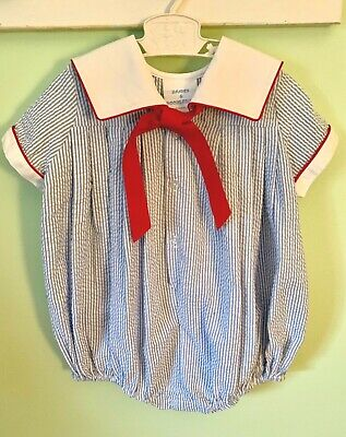 1a58f71ea BABY BOY BUBBLE suit, sailor suit, seersucker, 18 months, July 4 ...