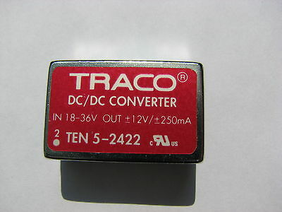 Traco Power TEN 3-1213 IN 9-18 YDC out 15VDC//200mA