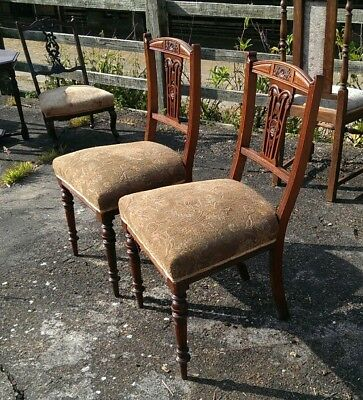 Antique Art Nouveau Mahogany Hall or Bedroom Chairs DELIVERY POSSIBLE