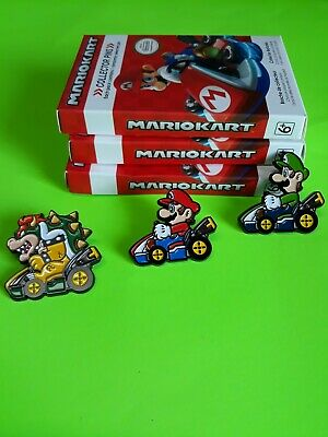 Nintendo Super Mario Kart Collector Pins Series 2 - Mario, Luigi, Bowser lot