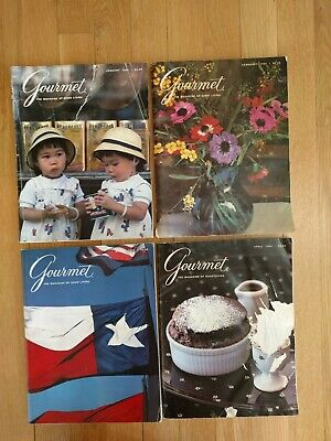 1984 Gourmet Magazines (January, February, March & April)
