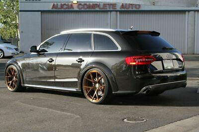 Rear Boot trunk RS4 Style Roof Extention Spoiler Wing For Audi A4 B8 ALLROAD