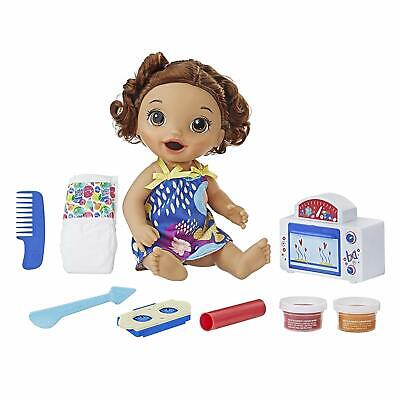 Baby Alive Snackin Baby BR Girls Doll - TOY FREE SHIPPING