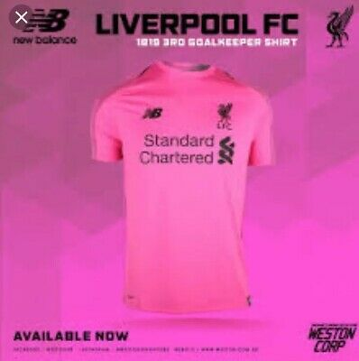 Liverpool Football Club Mens Pink Goalkeeper Shirt All Sizes S M L XL Available