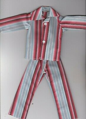 Homemade Doll Clothes AWESOME Striped Pajamas fit Ken KP4
