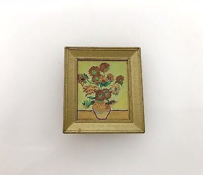 Sylvanian Families Vintage photo Hanging Wall Gold Frame Calico Critter Spares