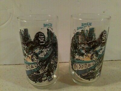 Coca-Cola King Kong Drinking Glass  1976  Lot Of 2  Limited Edition