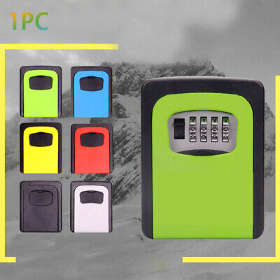 Wall Mounted Lock Box Alloy Resettable Code 4-Digit Combination Easy Install