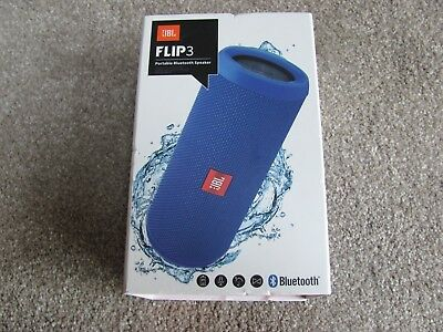 Brand New JBL Flip 3 Splash Proof Portable Bluetooth Speaker Blue JBLFLIP3BLUE