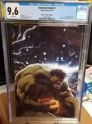 Immortal Hulk #1 (Andrews Virgin Edition) Incredible Hulk #718 Cgc 9.6 Nm+