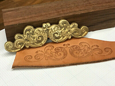 FISH ORNAMNET Leather Bookbinding Finishing tool Stamp EMBOSSING biscuit die ST7