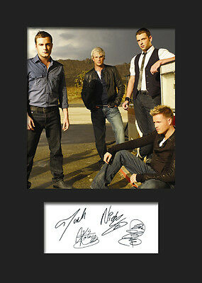 WESTLIFE #4 Signed Photo Print A5 Mounted Photo Print - FREE DELIVERY